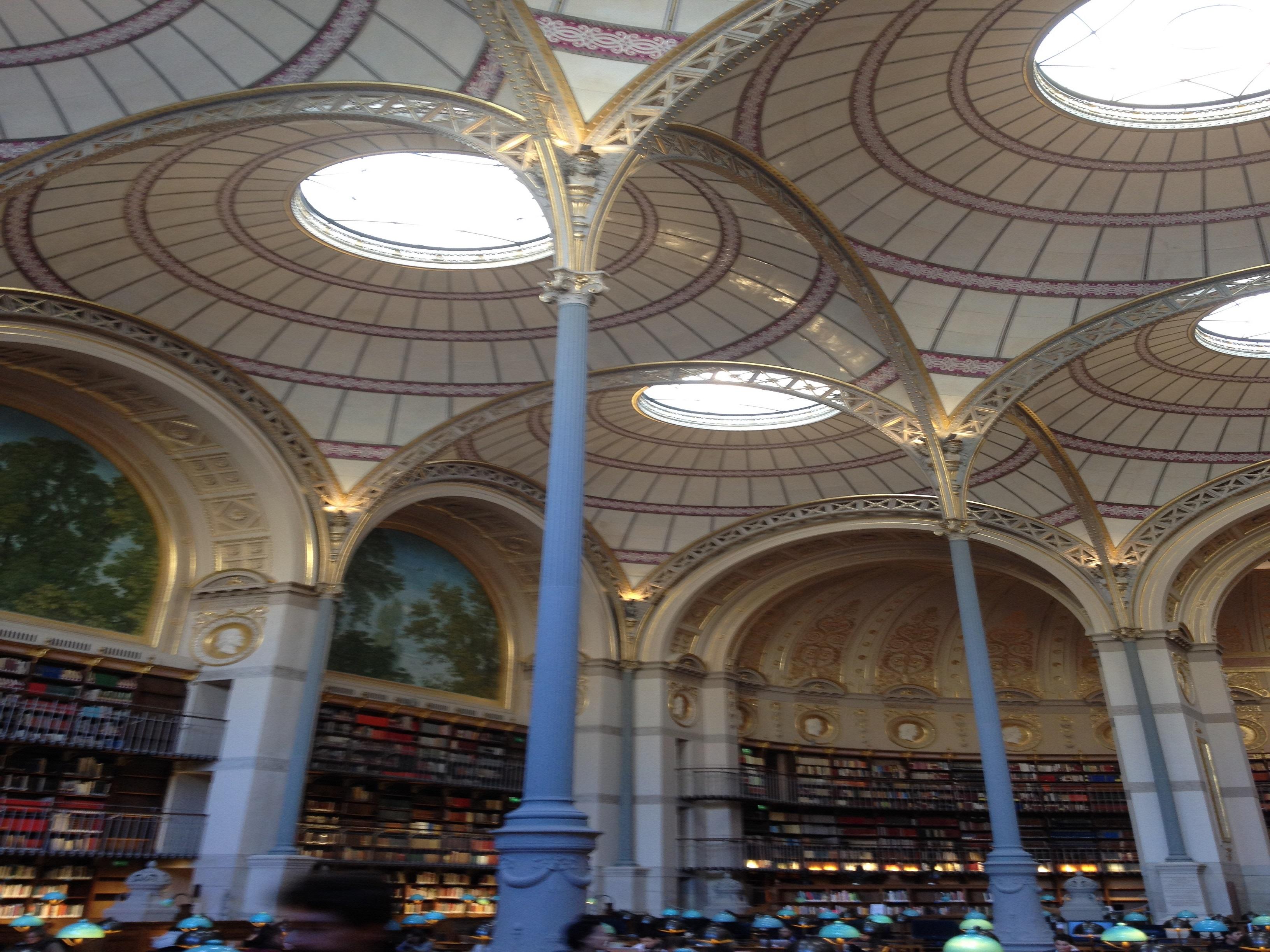 Bibliothèque Richelieu, salle Labrouste