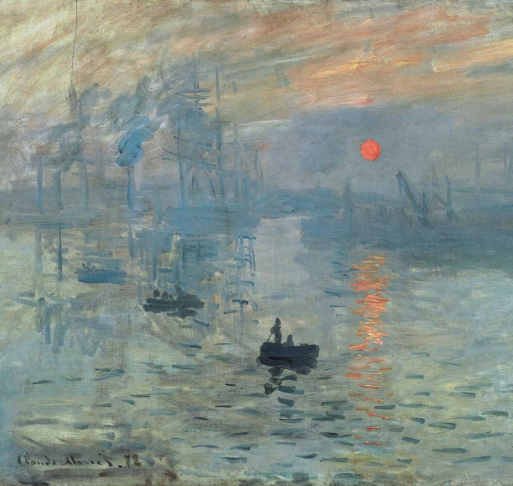 Claude Monet, Impression, Soleil levant, crédit photo : Musée Marmottan-Monet