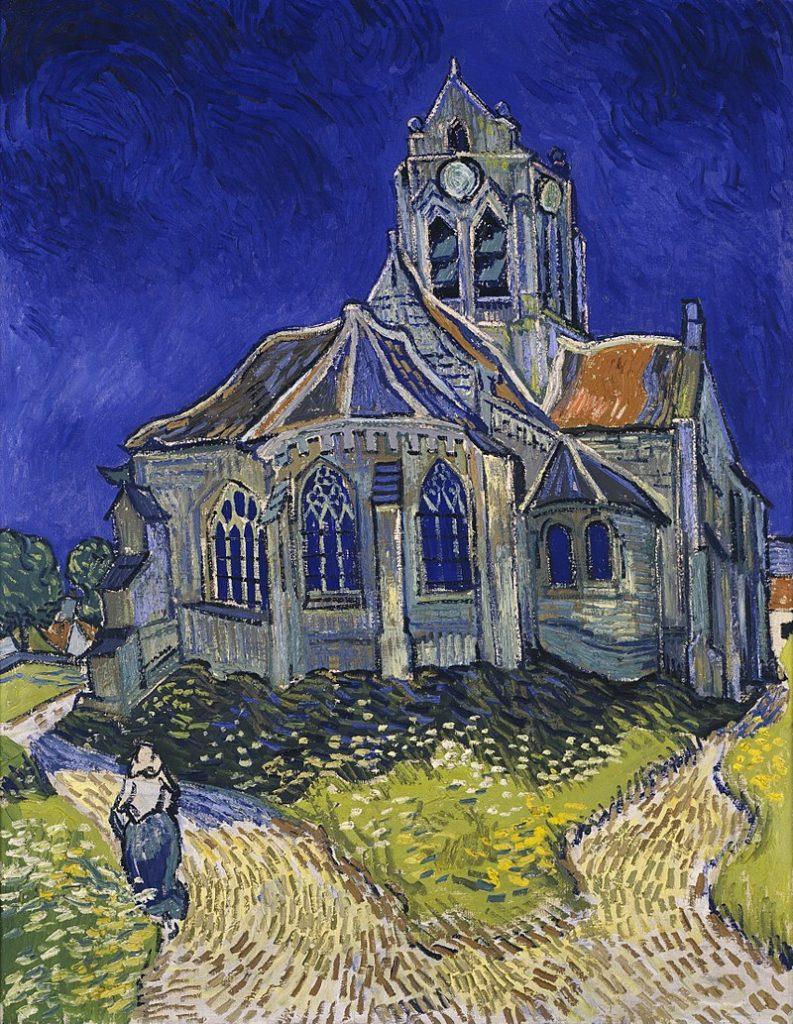 Eglise d'Auvers sur Oise peinte par Van Gogh