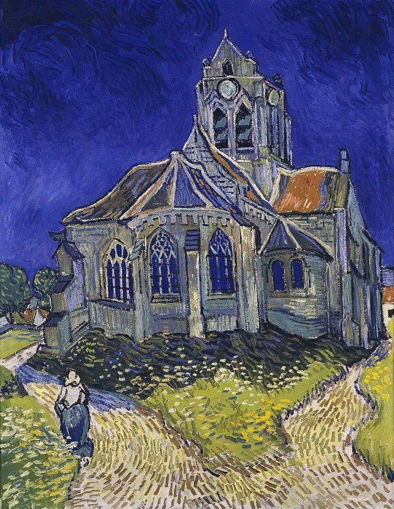 Vincent Van Gogh, l'église d'Auvers sur Oise, Musée d'Orsay, Paris