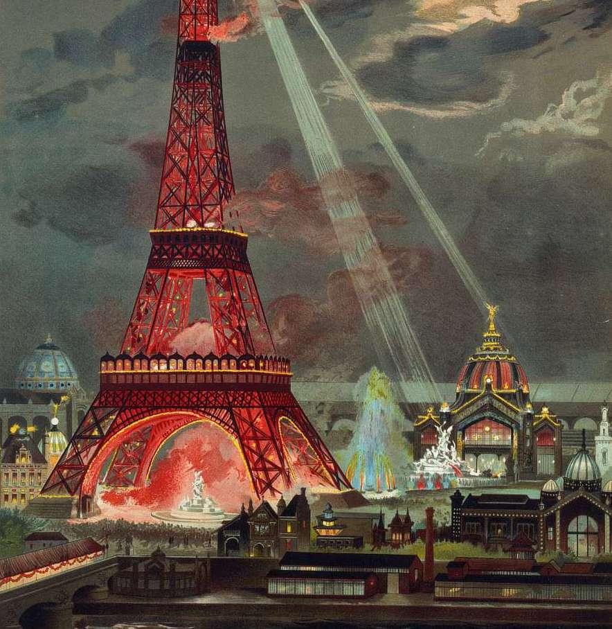 G Garen, l'Embrasement de la Tour Eiffel - crédit photo : Paris Musées
