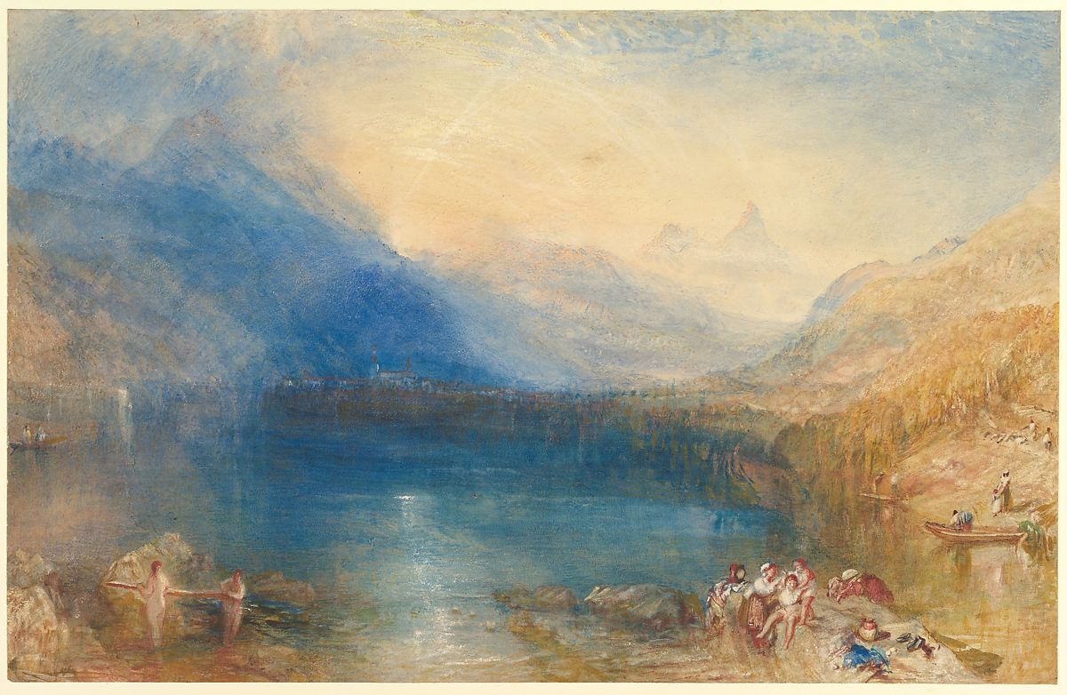 W Turner, Le Lac de Zug - crédit photo The Metropolitan Museum of Art